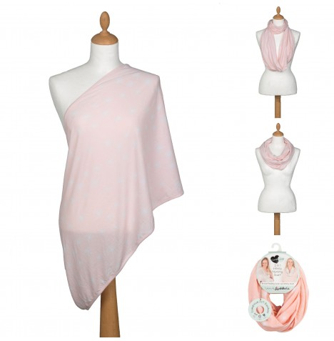 Cuddle Co Comfi Love 2 in 1 Infinity Maternity Designer Nursing Scarf - Pink Sugar Plum Fairies